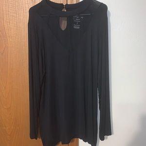 Black Torrid Brand Size 3 Mesh Top